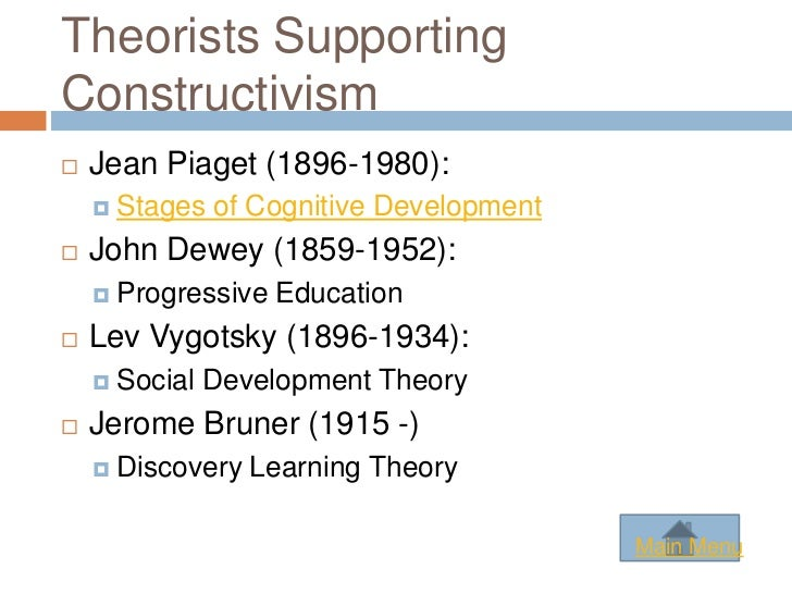 constructivist theory teaching theory essay Constructivist learning is inquiry as per dewey claimed on the other hand, piaget, (1973), in piaget's developmental theory, indicated the psychological extraction of.