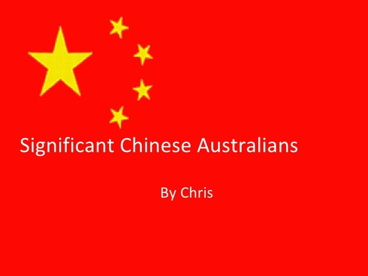Significant Chinese Australians By Chris