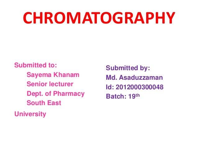 Chromatography_Md. Asaduzzaman_SEU
