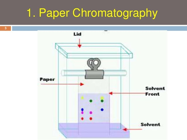 paper chromatography experiment