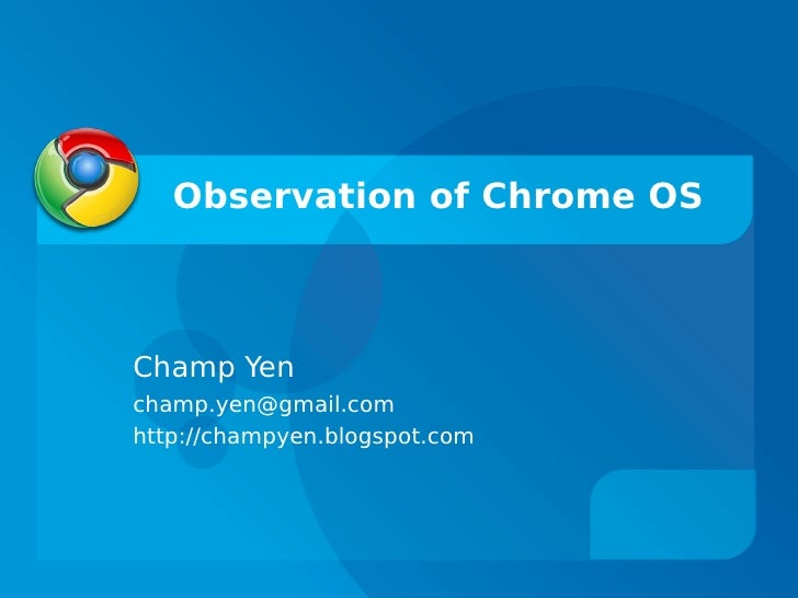 Chrome OS Observation