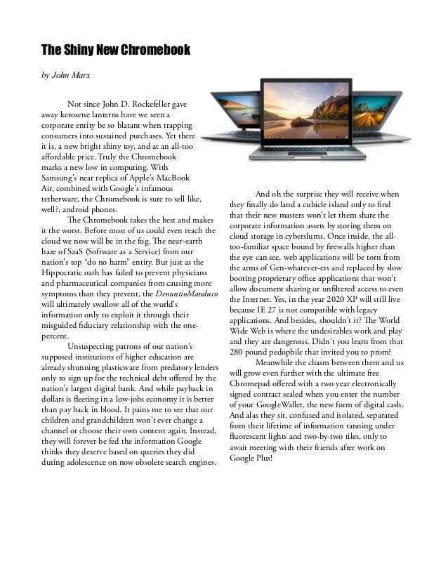 The Shiny New Chromebook