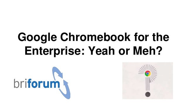 Google Chromebook for the Enterprise: Yeah or Meh?