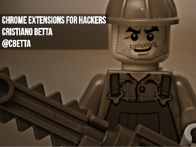 Chrome Extensions for Hackers