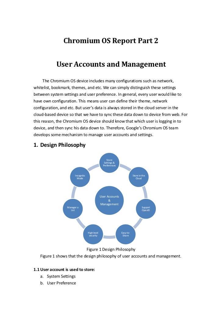 Chromium OS - User Accounts and Management