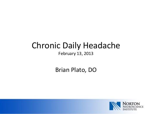Chronic daily headache feb 13 photo