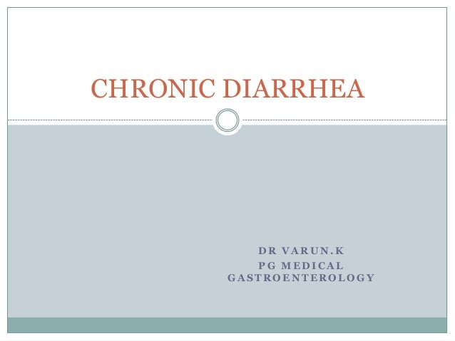 Chronic diarrhoea