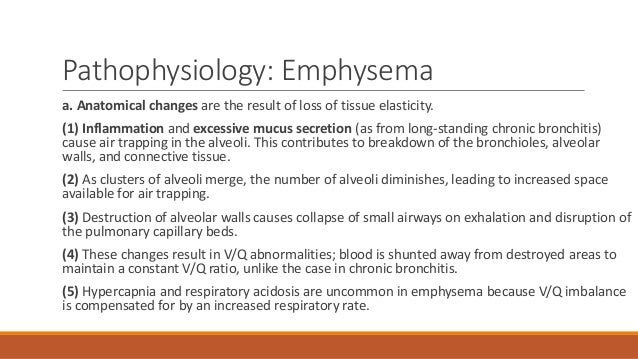 case study respiratory system emphysema