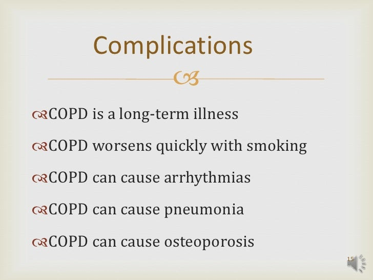 chronic obstructive pulmonary disease case study Chronic obstructive pulmonary disease (copd) or chronic obstructive pulmonary disease statistics & case study.