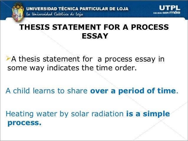 Process Essay Thesis Statement Wwwgxartorg Chronological Order Process Essays  Thesis Statement For A Process Essayï