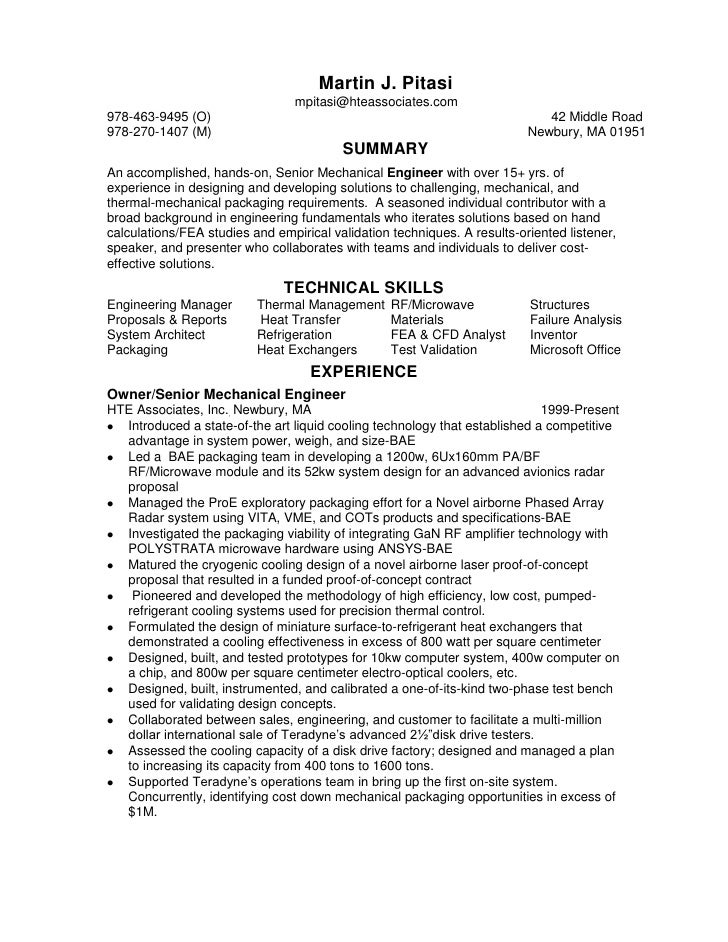 chronological senior mechanical packaging engineer resume1 1