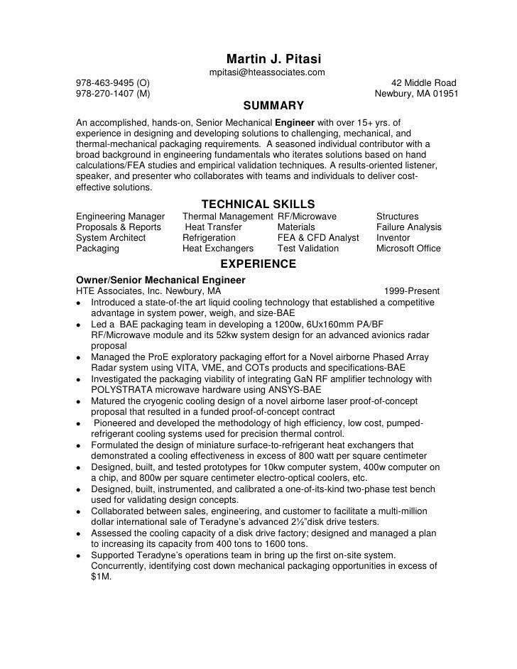 Chronological Senior Mechanical Packaging Engineer Resume1 1