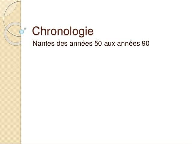 Chronologie Nantes des années 50 aux années 90