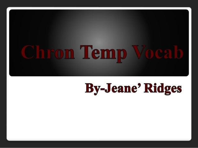 Chron temp vocab