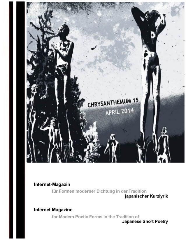 Internet-Magazin für Formen moderner Dichtung in der Tradition japanischer Kurzlyrik Internet Magazine for Modern Poetic F...