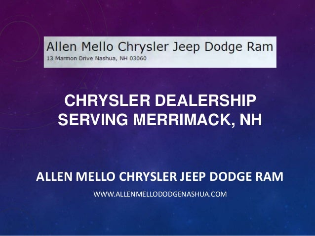 Chrysler Dealership Serving Merrimack, NH