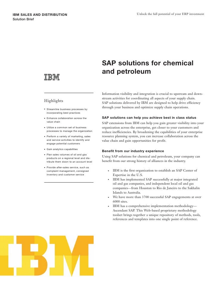 IBM SALES AND DISTRIBUTION                                                            Unlock the full potential of your ER...