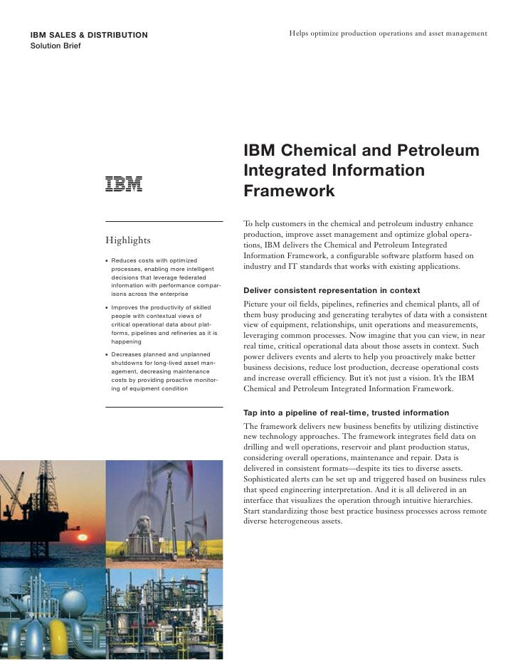 IBM SALES & DISTRIBUTION                                                   Helps optimize production operations and asset ...