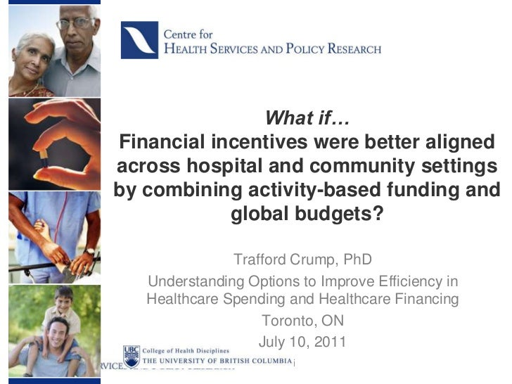 WHAT IF: Financial incentives were better aligned across hospital and community settings by combining activity-based funding and global budgets?