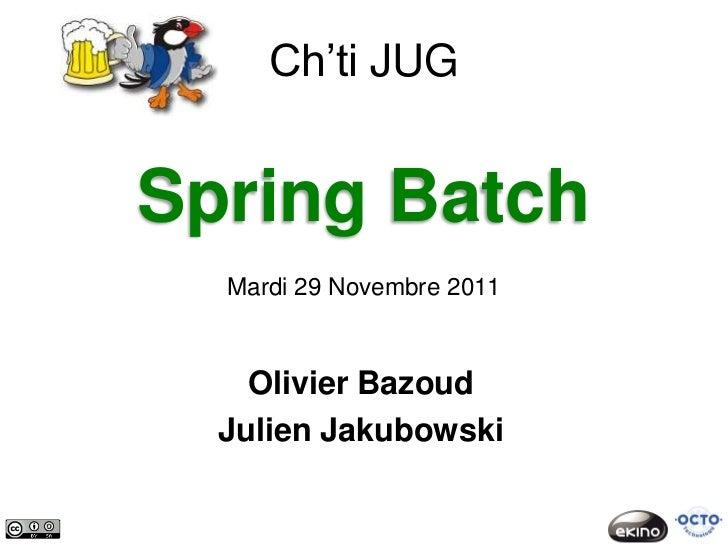 Chtijug springbatch 2011