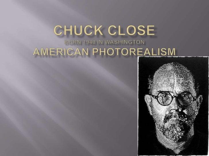 Chuck Closeborn 1940 in WashingtonAmerican Photorealism<br />
