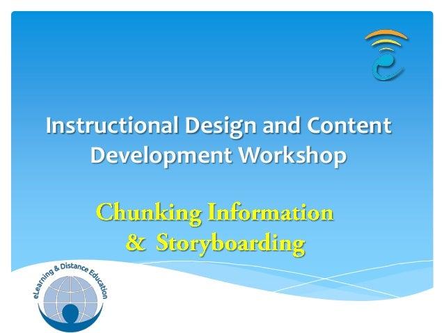 Chunking and storyboarding
