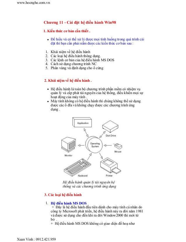 Chuong 11 setup-win98