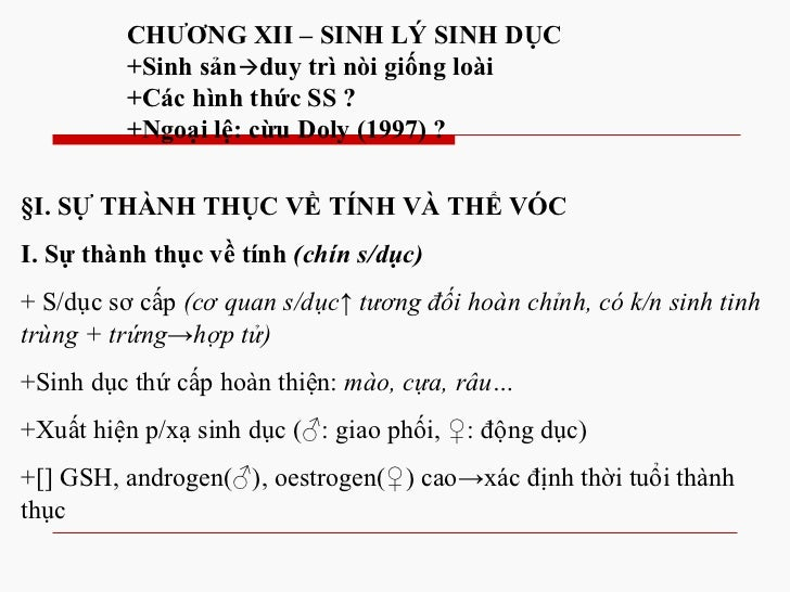 Chuong 12 sinh ly sinh duc