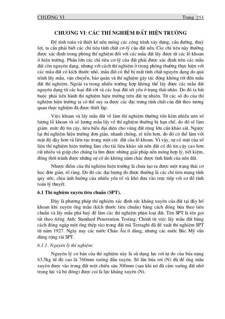 CH¦¥NG vi                                                                  Trang 253        CH¦¥NG VI: C¸C THÝ NGHIÖM §ÊT ...