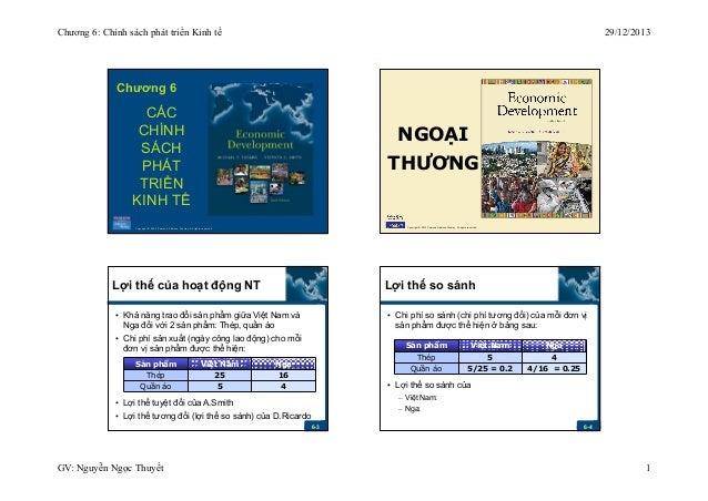 Chương 6: Chính sách phát triển Kinh tế  29/12/2013  Chương 6  CÁC CHÍNH SÁCH PHÁT TRIỂN KINH TẾ  NGOẠI THƯƠNG  Copyright ...