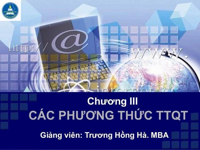 Chuong iii cac phuong thuc thanh toan quoc te