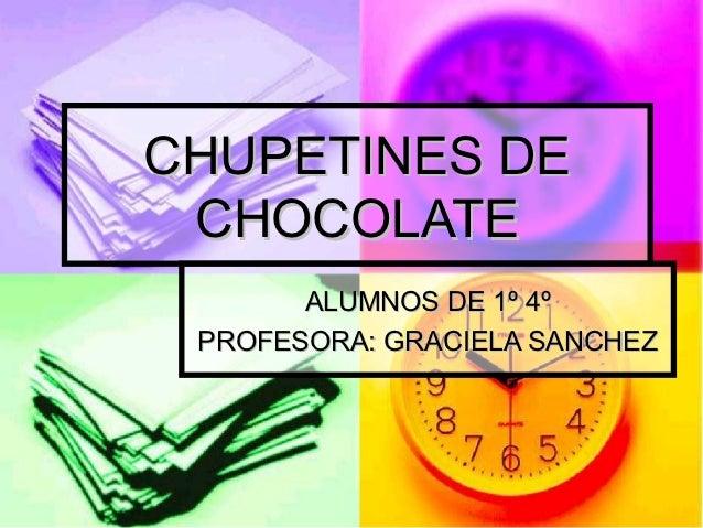 Chupetines de chocolate