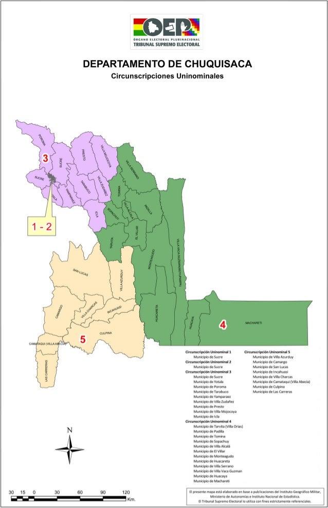 Chuquisaca mapa electoral
