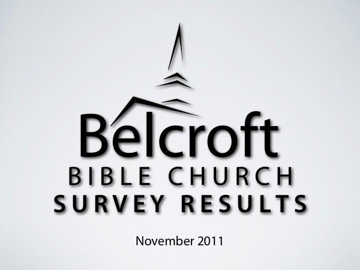 SURVEY RESULTS    November 2011