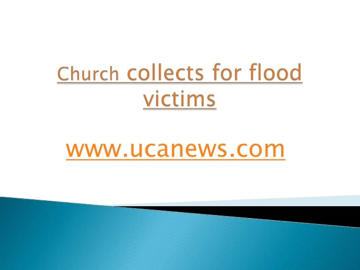 Church collects for flood victims