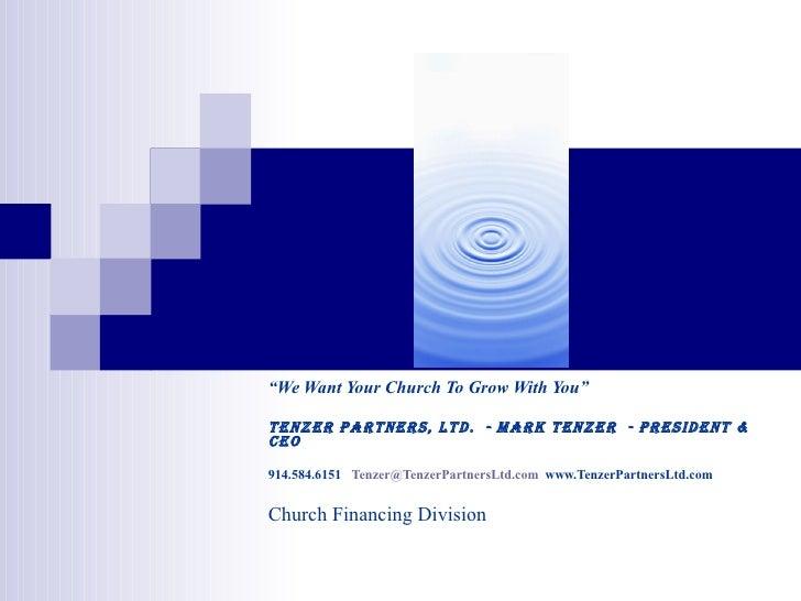 An Easy Way To Church Financing