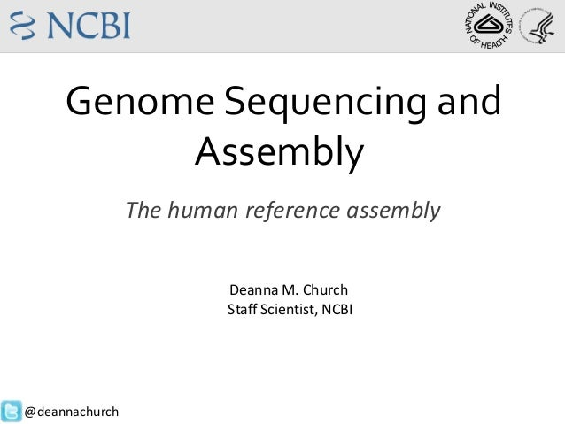 Genome Sequencing and Assembly The human reference assembly Deanna M. Church Staff Scientist, NCBI  @deannachurch
