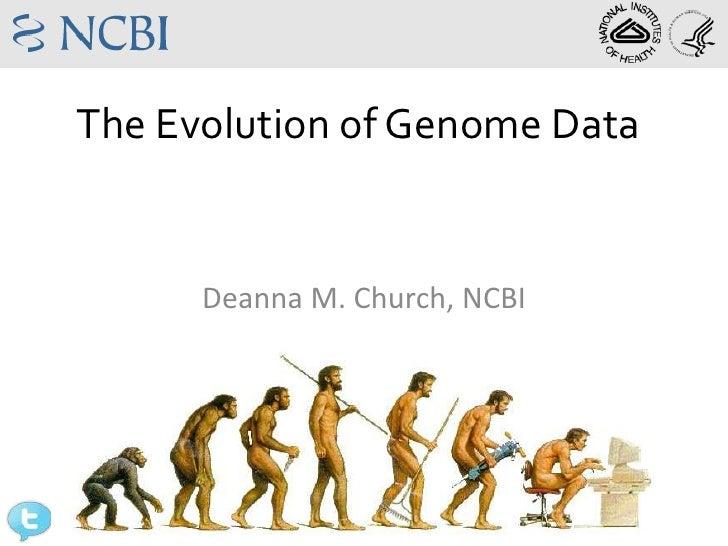 The Evolution of Genome Data                Deanna M. Church, NCBI@deannachurch