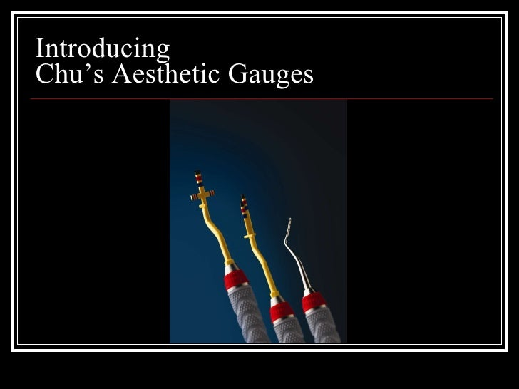 Introducing  Chu's Aesthetic Gauges