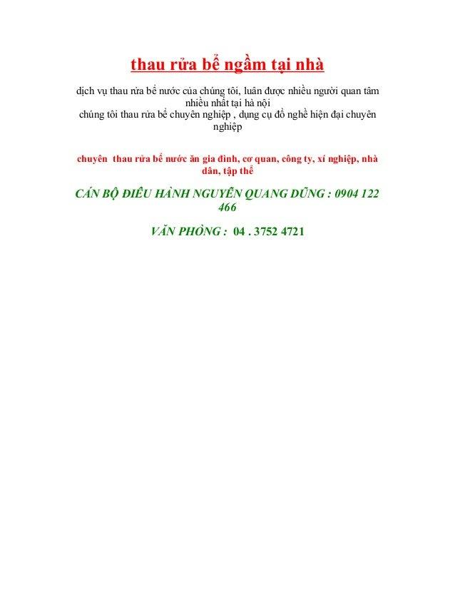 Chuyên thau rửa bể ngầm 0904 122 466