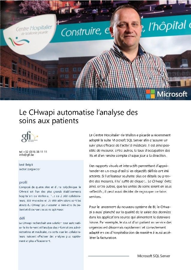 tel +32 (0)16 38 11 11 info@gfi.be  profil  défi  Microsoft SQL Server