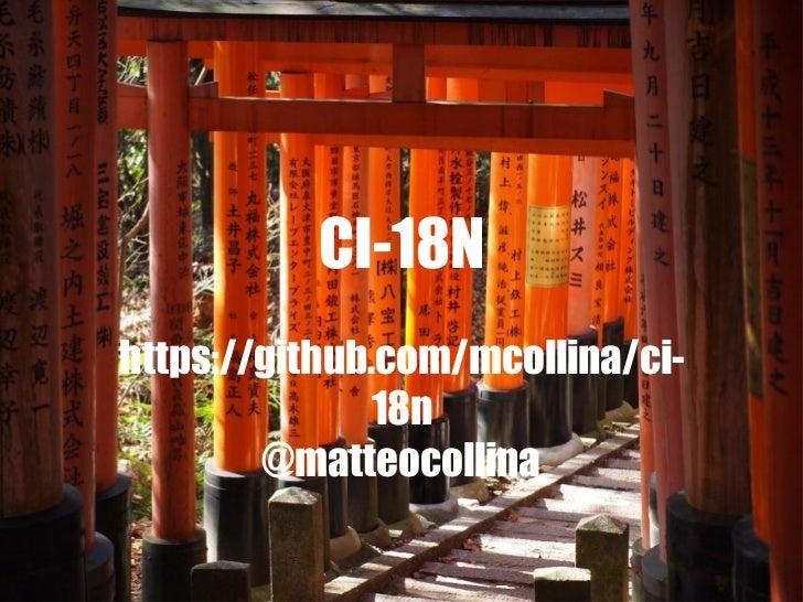 CI-18Nhttps://github.com/mcollina/ci-               18n        @matteocollina