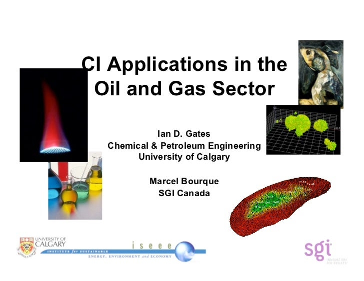 CI Applications in the  Oil and Gas Sector              Ian D. Gates   Chemical & Petroleum Engineering         University...
