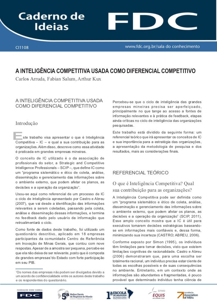 CI1108       Gestão estratéGica do suprimento e o impacto no               desempenho das        empresas Brasileirasa int...
