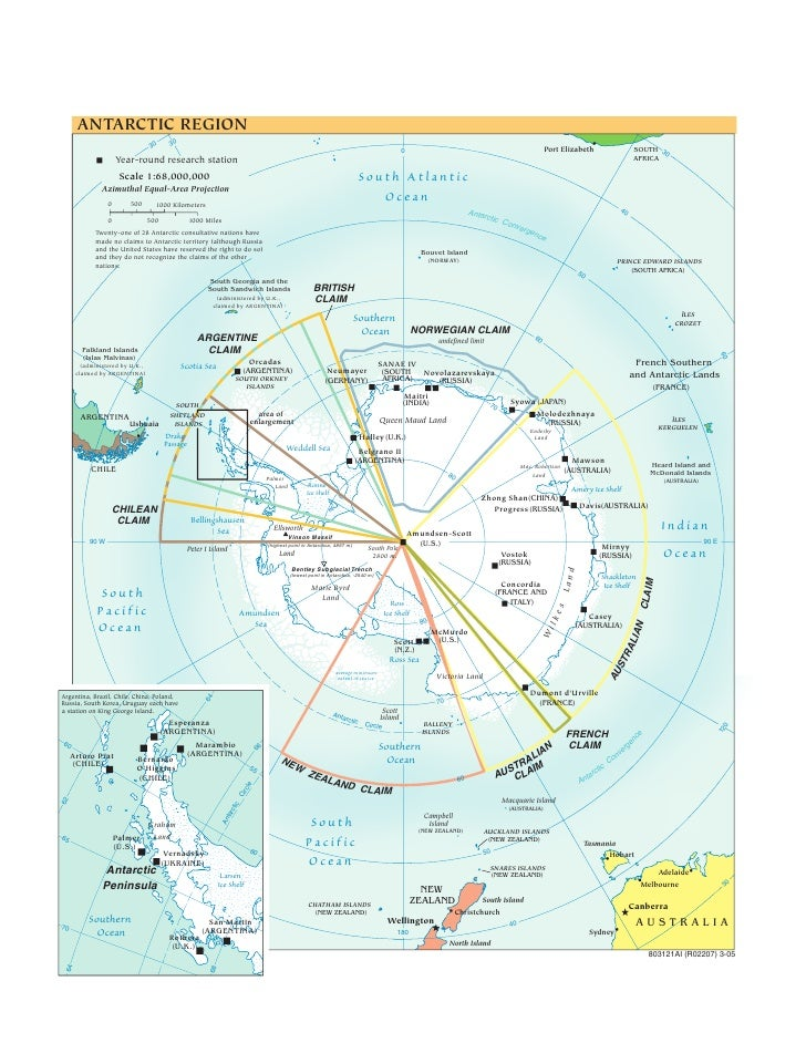 Cia   World Factbook   Reference Map   Antarctic
