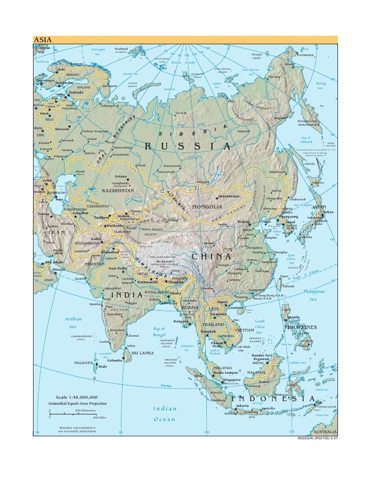 Cia   World Factbook   Reference Map   Asia