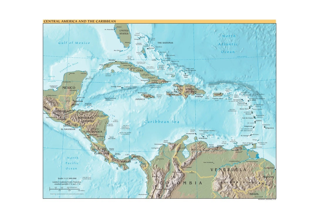 Cia   World Factbook   Reference Map   Central America
