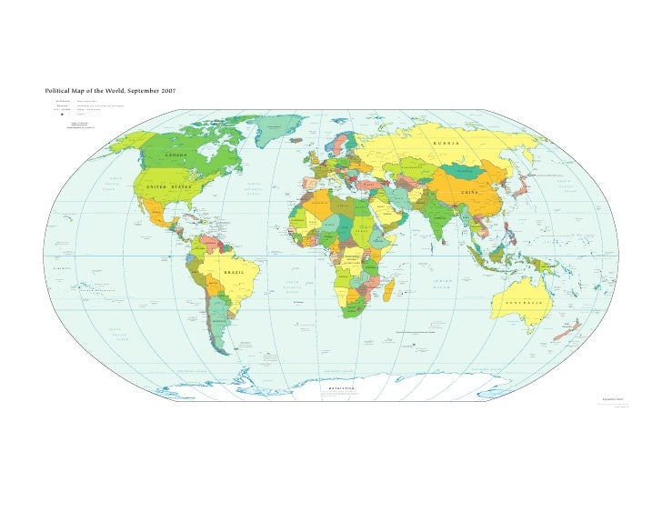 Political Map of the World, September 2007                     AUSTRALIA                                 Independent state...