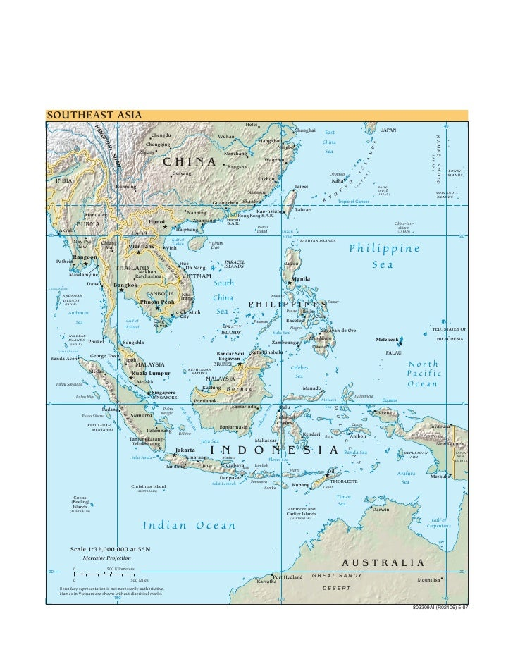 Cia   World Factbook   Reference Map   Se Asia