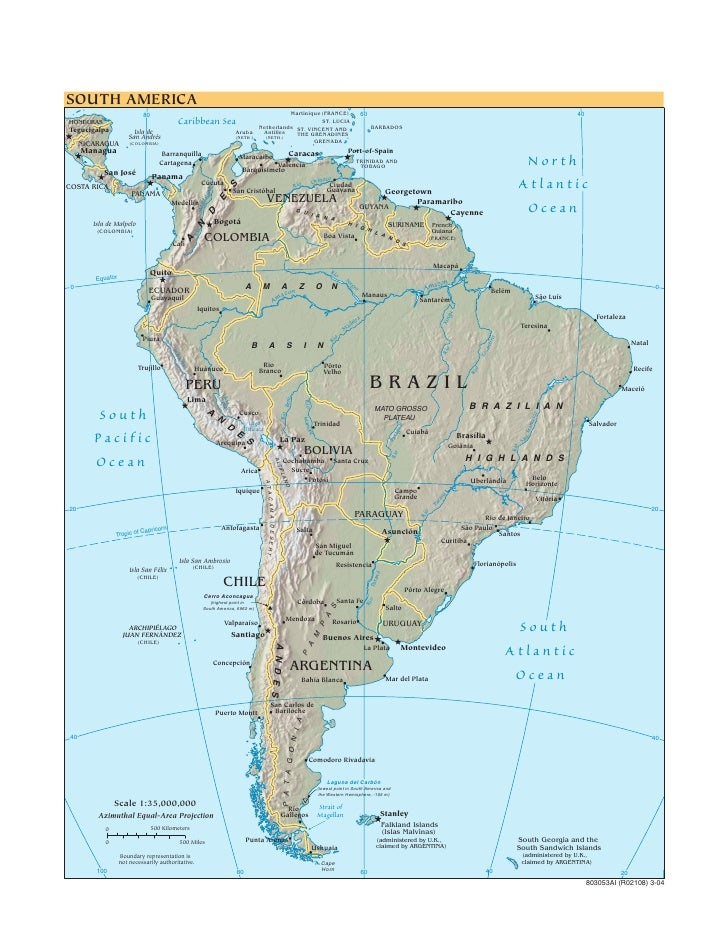 Cia   World Factbook   Reference Map   South America
